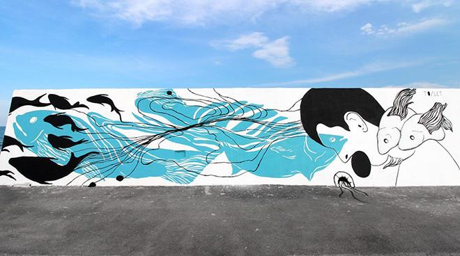 TO/LET (Elisa Lapicci + Sonia Piedad) - Vedo a colori, street art nel porto di Civitanova Marche