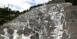 Vhils - Caniçada Dam Project (Vieira do Minho), Portugal. photo credit: © EDP & Pedro Santasmarinas & João Almeida