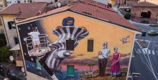 AEC Interesni Kazki - Cavalieri & Saraceni, Pisa, 2018. Murale realizzato per stART Festival-Welcome to Pisa. photo credit: Victor Valobonsi.