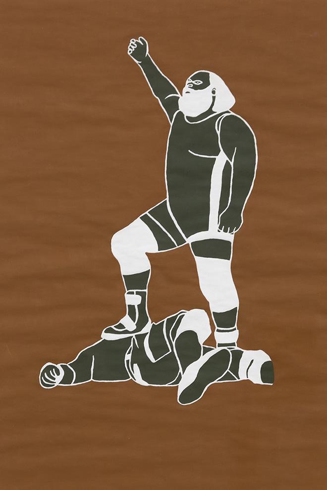 Fosco Grisendi - Stand your ground #1, 2014, acrilico su carta, cm. 42x30, photo credit: Federico Donato