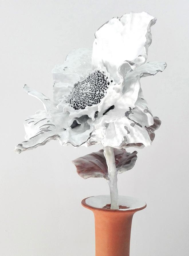 Paolo Buzzi - Margarita turchese (particolare), 2018