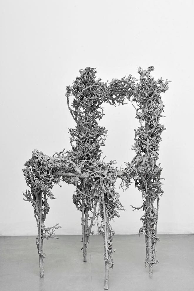 Paolo Grassino - Senza Titolo, 2007-2018, fusione in alluminio, cm 100x58x54. Photo credit Marco Russo, Firenze
