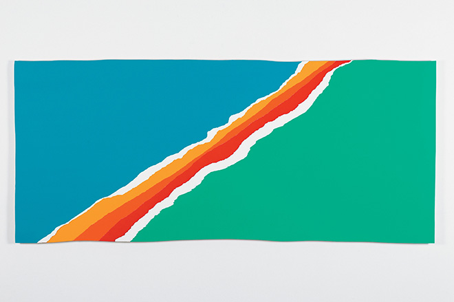 Piotr Uklanski - Untitled (Rocket's Glare, Over Najaf), 2004, acrilico su carta Lanaquarelle 640 gr montata su legno, cm 106,7x247,5. Courtesy Massimo De Carlo, Milan/London/Hong Kong