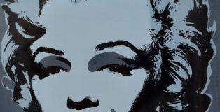 Andy Warhol - Marilyn, serigrafia grigio/blu, 1967/1984