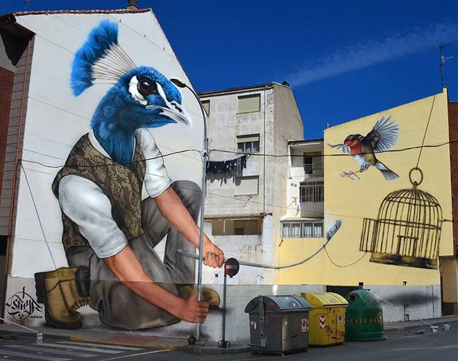 Sfhir - The Bird Man, Festival Aerorap 2015 La Bañeza (León, Spain)