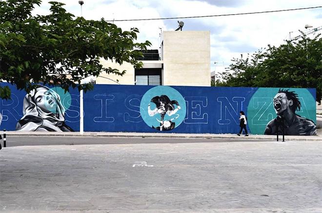 TMX - Resistenza, mural in Valencia