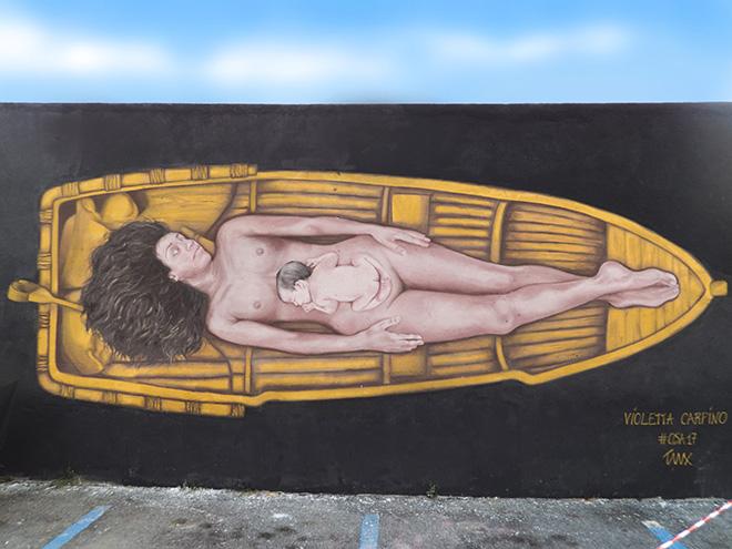 Violetta Carpino - OSA17, murale a Diamante (CS), 2017