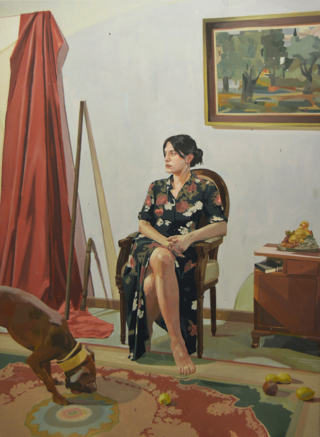 Dimitris Taxis - Alexia, oil on canvas, 110x150cm, 2018