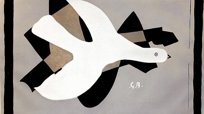 Georges Braque - Oiseau et son ombre III, 1961, incisione ad acquatinta, cm 53x73