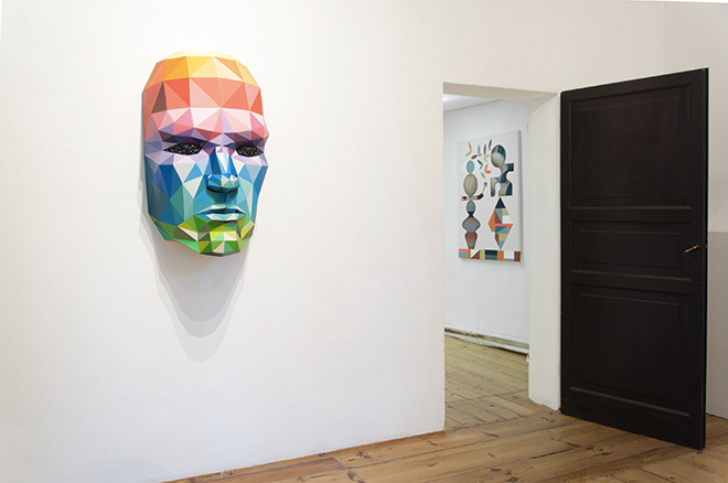 Okuda - installation view. Surreal Irreverence, MAGMA gallery