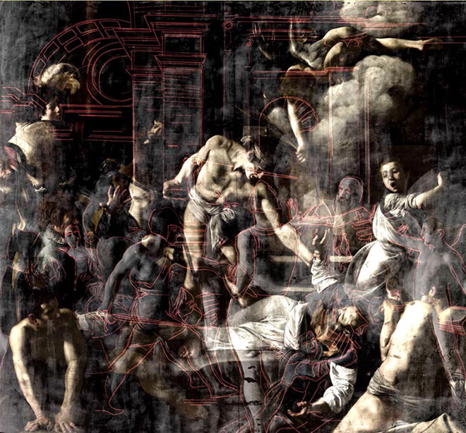 Morphing Martirio San Matteo, Cappella Contarelli. Caravaggio. Oltre la tela: La mostra immersiva