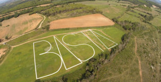 Philippe Pastor - «Basta», Land Art near Figueras (Spain)