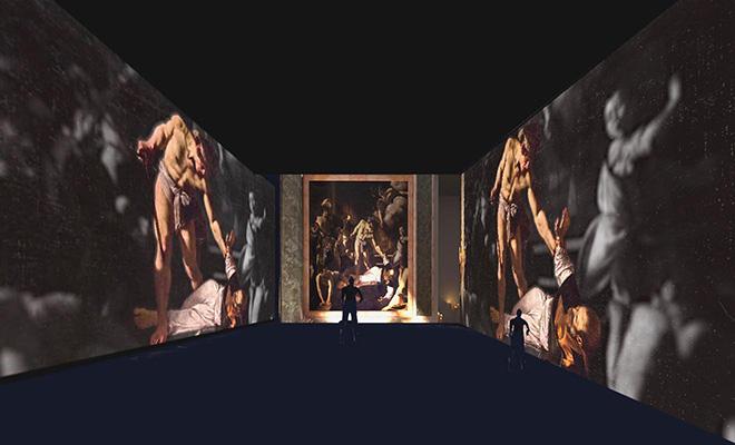 Render Martirio San Matteo, Cappella Contarelli. Caravaggio. Oltre la tela: La mostra immersiva
