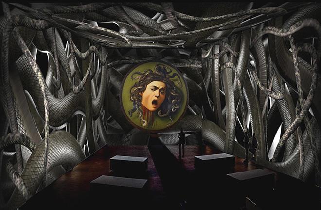 Render Medusa. Caravaggio. Oltre la tela: La mostra immersiva