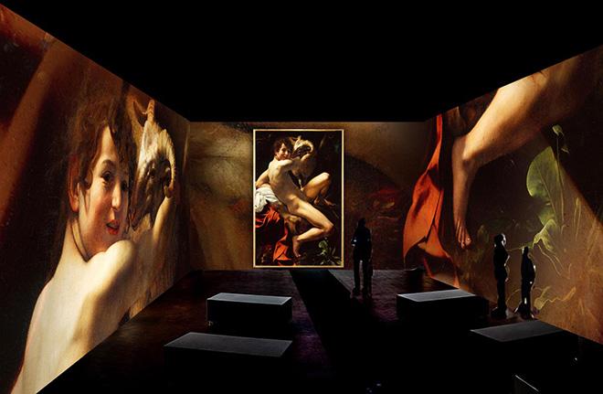 Render San Giovanni Battista - Caravaggio. Oltre la tela: La mostra immersiva