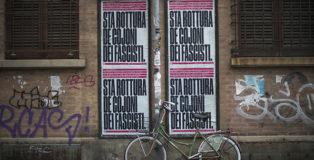 CHEAP feat TESTI MANIFESTI - Sta rottura de cojoni dei fascisti, via San Giacomo, Bologna. photo credit: Michele Lapini
