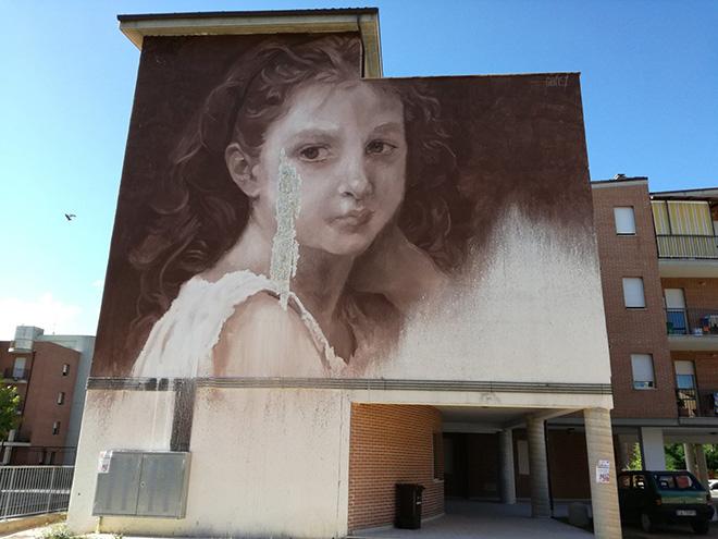 Luis Gomez de Teran, GOMEZ - Aika, Arte Pubblica a San Marcello, Ascoli Piceno. photo credit: Exe Air