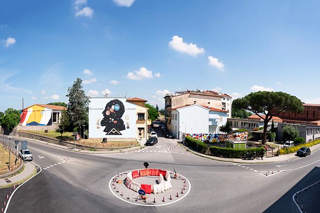 Start Festival - Welcome to Pisa, immagine panoramica via Conte Fazio (OZMO + Moneyless+IMOS, BEAST e 2OLD). photo credit: Carlo Regoli