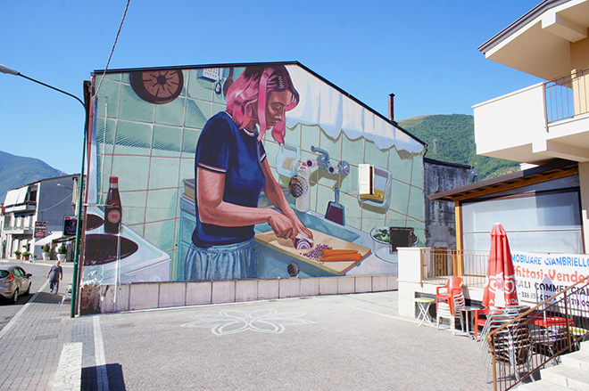 Dimitris Taxis - Preparing dinner, mural
