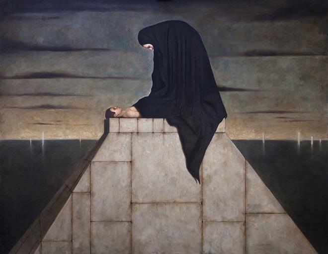 Alessandro Sicioldr - Il Crepuscolo, 2018. olio su tela, cm 135x170