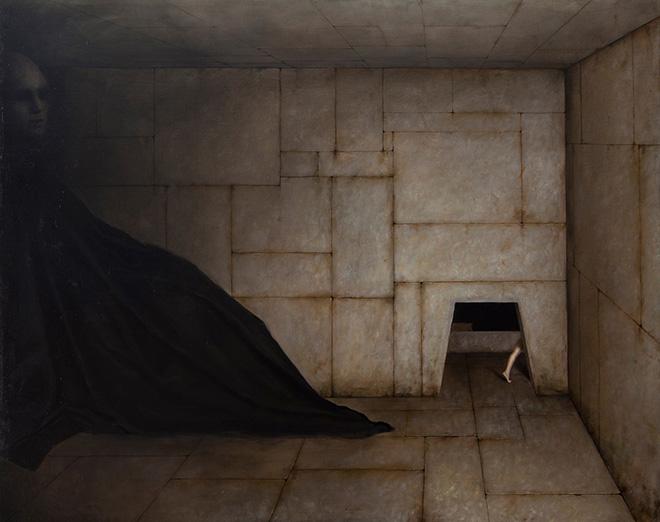 Alessandro Sicioldr - Il Labirinto o la Fuga, 2018. olio su tela, cm 120x150