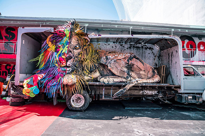 Bordalo II – Wild Wild Waste (Trash Animal Zoo)