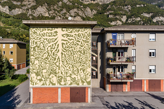 COLLETTIVO FX - Radici, WALL IN ART 2018, Angone. Photo credit: Davide Bassanesi