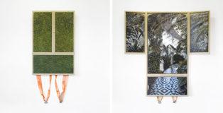 Jesús Herrera Martínez - Botanisk Have København 01 - Oil on canvas - 75x50 cm (closed) 100x100 (open) cm - 2018.