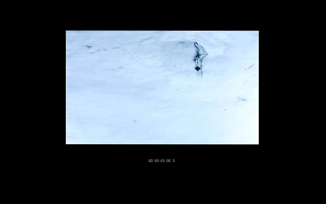 Niccolò Masini - White Time, video installation, 2 min 28sec [looped], 2015