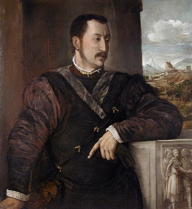 Tiziano Vecellio - [Pieve di Cadore, 1488/90 - Venezia, 1576], Ritratto di Ottavio Farnese, 1546, olio su tela, cm 101 x 92