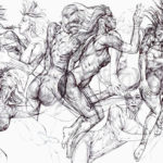 Manzoni – Drawing – Growing
