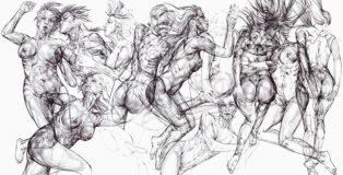 Giovanni Manzoni - Drawing Growing, live painting presso la Fabbrica del Vapore di Milano.