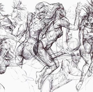 Manzoni – Drawing – Growing