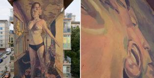 Milu Correch - Tributo a Ecate, Draw the Line, 2018. Location: via Marche, Quartiere San Giovanni, Campobasso.