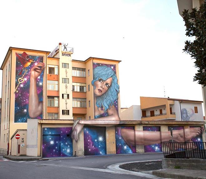 Sfhir - OSA 2018, Operazione Street Art a Diamante