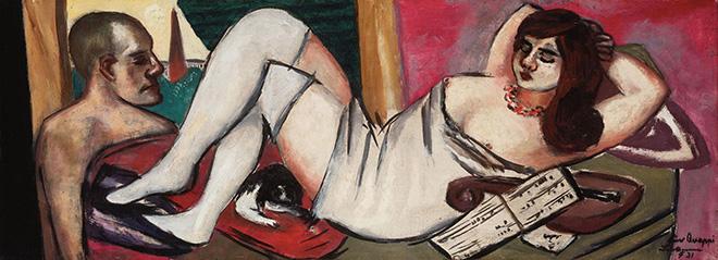 Max Beckmann - Siesta - 1924-1934, olio su tela, 35 x 95 cm, Collezione privata, © 2018, ProLitteris, Zurich