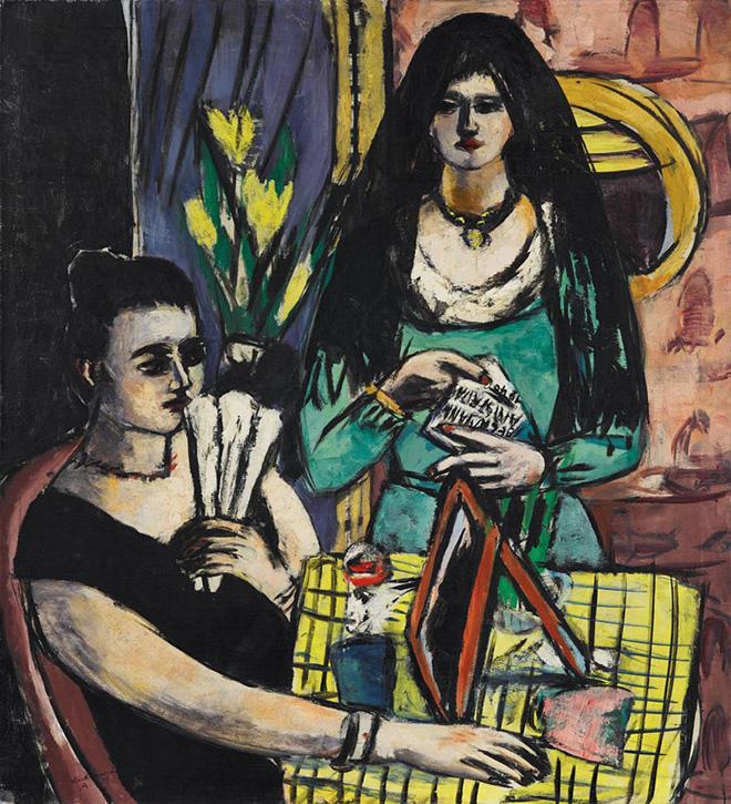Max Beckmann - Ragazze in nero e verde (Due donne spagnole), 1939, olio su tela, 127 x 116 cm, Collezione privata. © 2018, ProLitteris, Zurich