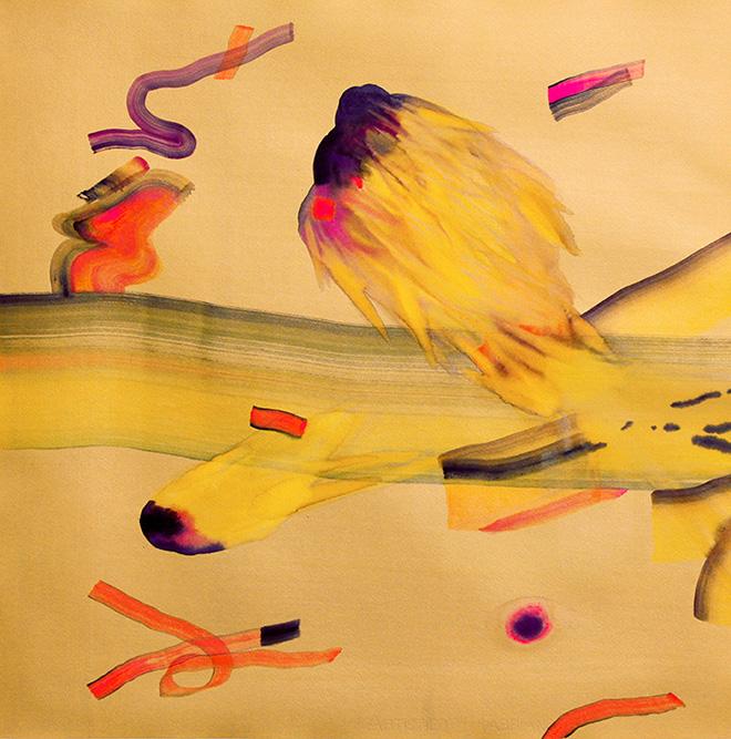 Isabella Nazzarri - Innesti 105, acquerello su carta, 70x70 cm, 2018