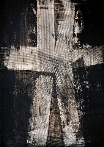 Luigi Pericle - Matri Dei d.d.d., China e tecnica mista su carta, 1963, 60 x 42 cm