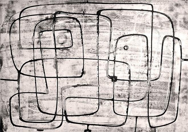 Luigi Pericle - Matri Dei d.d.d., China e tecnica mista su carta, 1964, 42 x 60 cm
