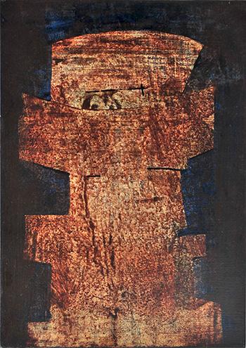 Luigi Pericle - Matri Dei d.d.d., 1966, Tecnica mista su masonite, 42 x 30 cm