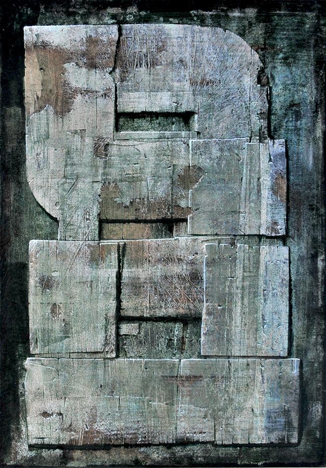 Luigi Pericle - Matri Dei d.d.d., 1978, Tecnica mista su masonite, 42 x 30 cm