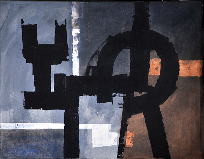Luigi Pericle - The March of Time X, Matri Dei d.d.d., 1963, Tecnica mista su tela, 51 x 65 cm