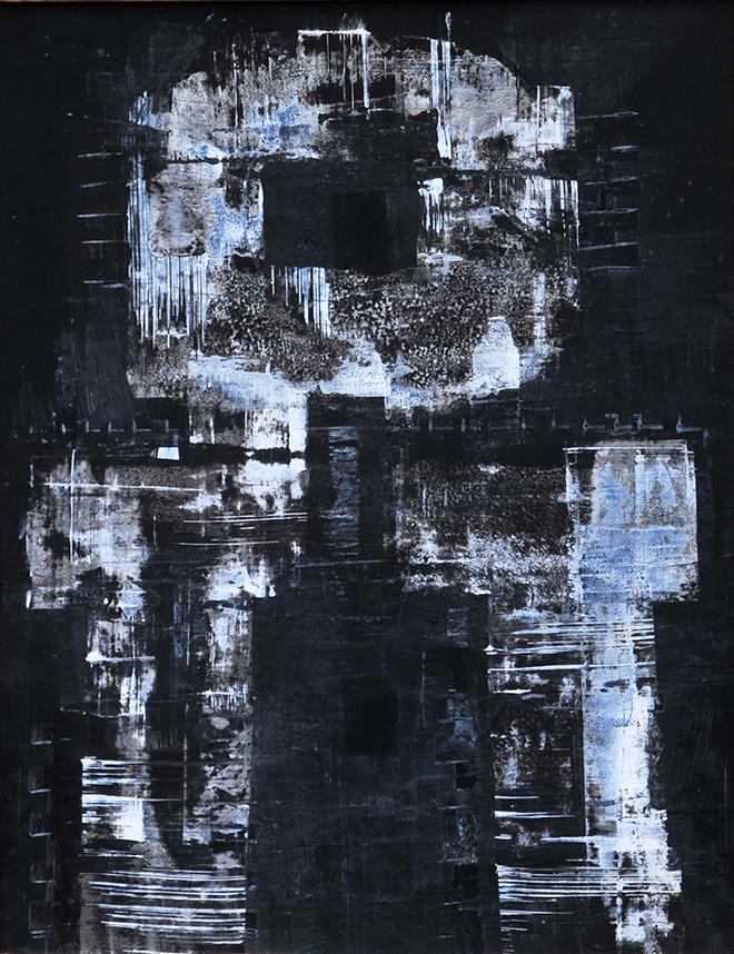 Luigi Pericle - Zen, Matri Dei d.d.d., 1974, Tecnica mista su masonite, 65 x 51 cm
