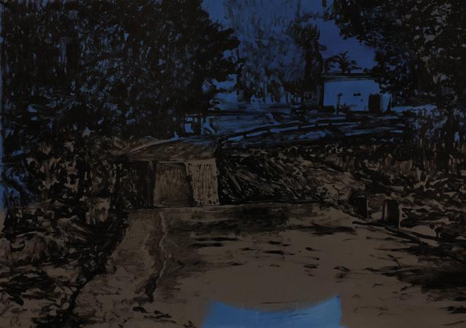 Michael Rotondi - Mota #18, 2018, smalto su carta, 70x100 cm
