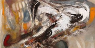 Piero Mascetti - LA CITTA' NELLA PELLE - olio su tela cm 120x180
