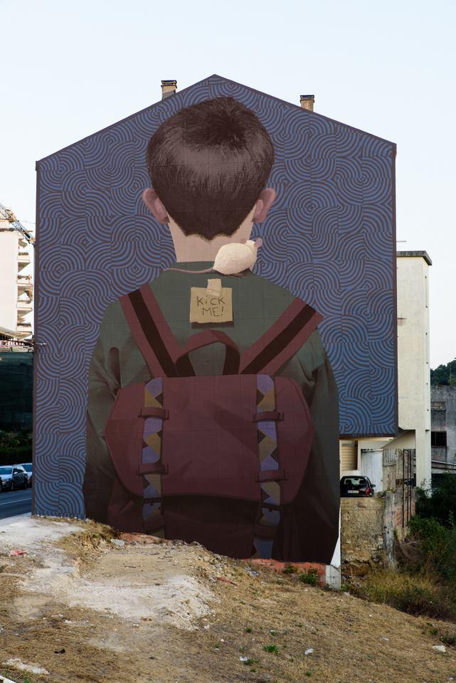 Bezt, Kick me - Arte Pública Leiria (Portugal), 2018. photo credit: Fotograf'arte