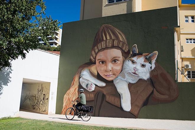 Ricardo Romero (Projecto Matilha) - Arte Pública Leiria (Portugal), 2018. photo credit: Fotograf'arte