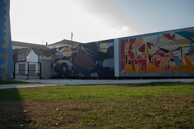 Zoer CSX - Arte Pública Leiria (Portugal), 2018. photo credit: Fotograf'arte