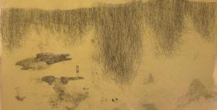 Elisa Bertaglia - Alma Venus et Venatrix Diana, 2012, olio, carboncino e grafite su carta, cm. 70x100
